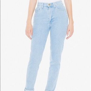 American Apparel high waist denim jeans